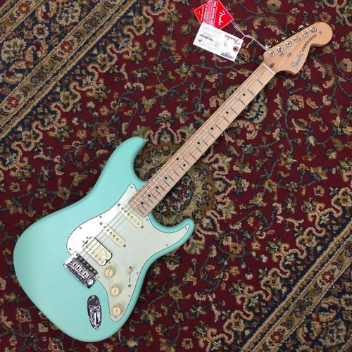 Fender American Performer Stratocaster HSS Maple Fingerboard, Satin Surf Green